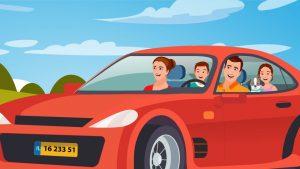 סרטון תדמית באנימציה - משפחה ברכב